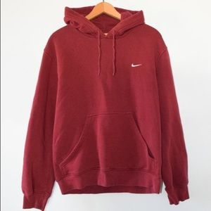 NIKE Red Hooded Sweatshirt
